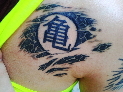 dragon ball z kame turtle tattoo