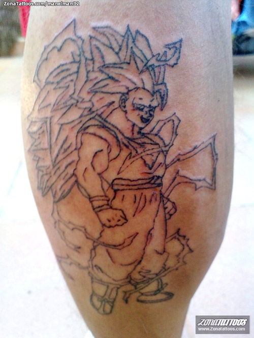 goku super saiyan 3 dragon ball tattoo dbzkai
