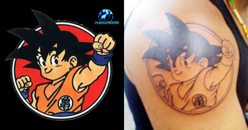 goku tattoo child fist circle dragon ball