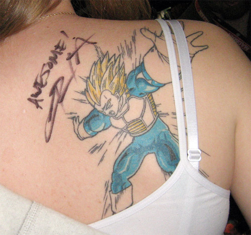 vegeta tattoo final flash christopher sabat dbz