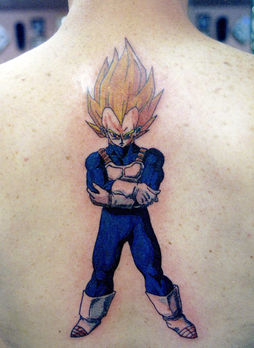 vegeta tattoo standing super saiyan dbz