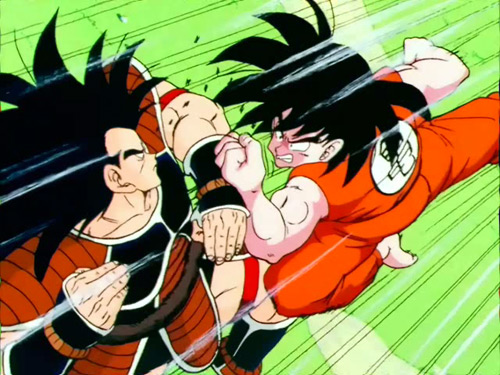 dragon ball z goku raditz fight dbz