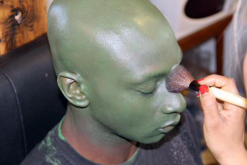 dragon ball z saiyan saga piccolo green makeup michael amariah