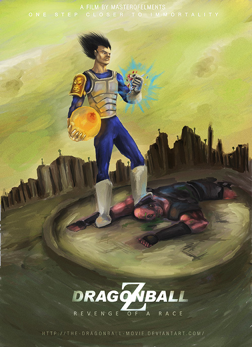 vegeta immortality dragon ball art painting