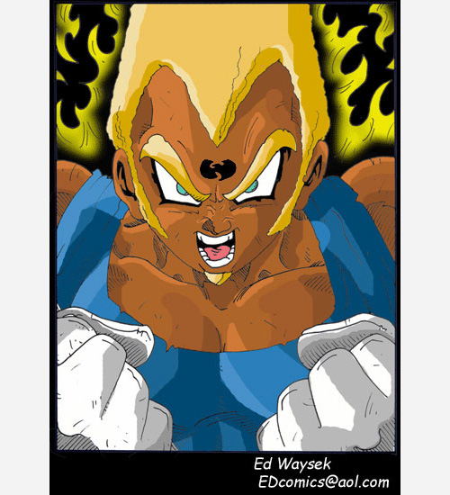 black super saiyan majin vegeta wu tang clan