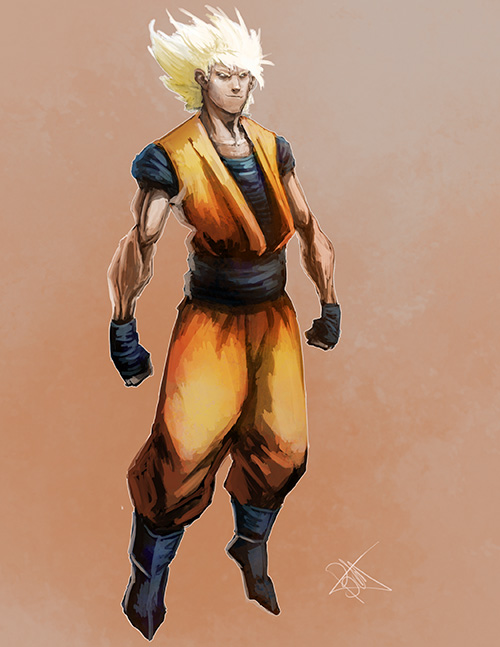 super saiyan goku dragon ball alternative art