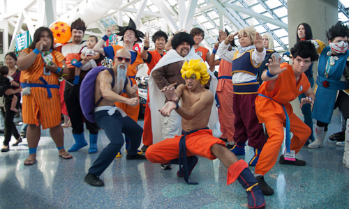dragon ball cosplay dbz group anime expo 2012
