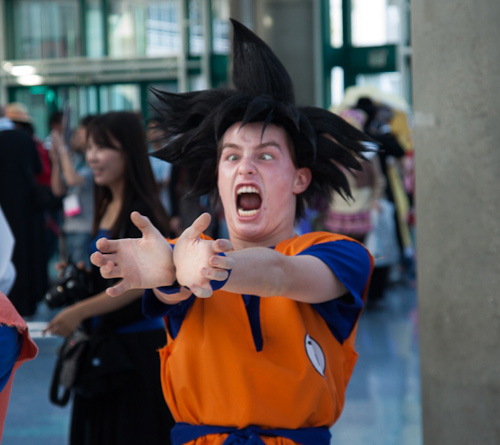 goku dragon ball cosplay kamehameha anime expo