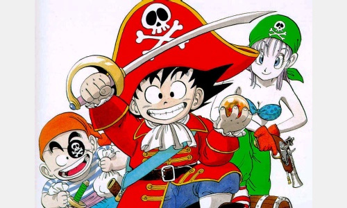 dragon ball pirate piracy goku krillin bulma