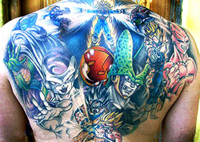dbz tattoo group z warriors