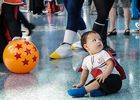 dragon ball cosplay anime expo baby