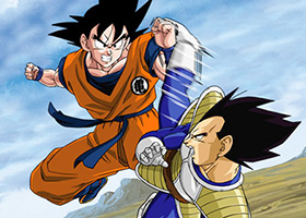 goku fight vegeta over 9000
