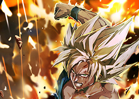 goku painting super saiyan art