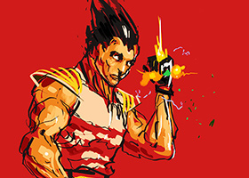 vegeta over 9000 alternative dragon ball art