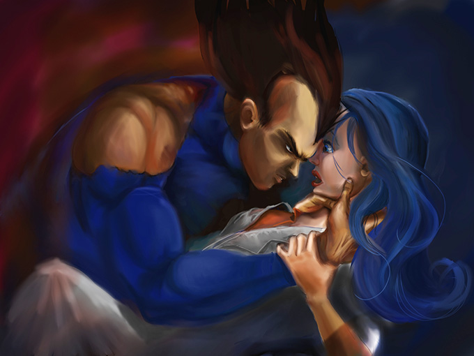 vegeta bulma love deadly embrace