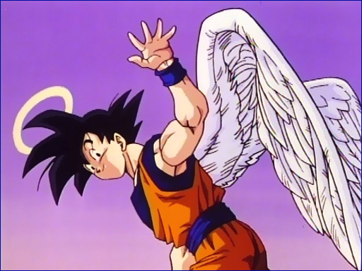 Goku with Angel Wings and Halo