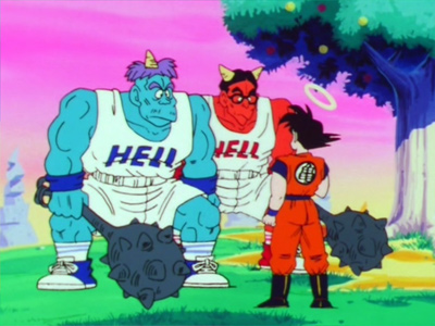 Gozu and Mezu from DBZ's Hell in episode 13