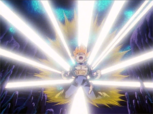 Vegeta Turns Super Saiyan