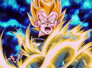 Vegeta's Energy Erupts from his Passages
