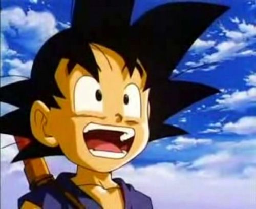 happy goku young