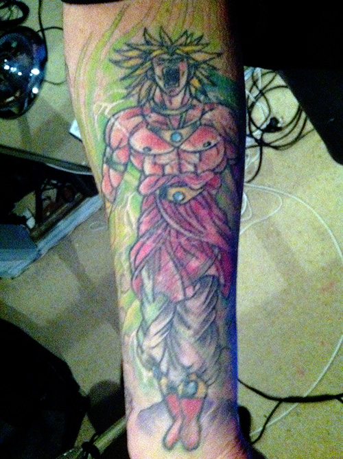 Broly tattoo DBZ super saiyan