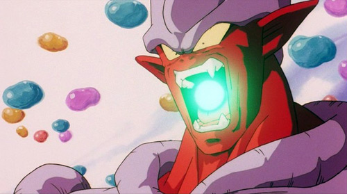 dbz movie 12 janemba mouth blast