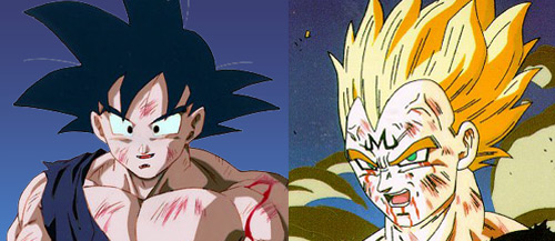 goku and vegeta saiyan showdown dbz