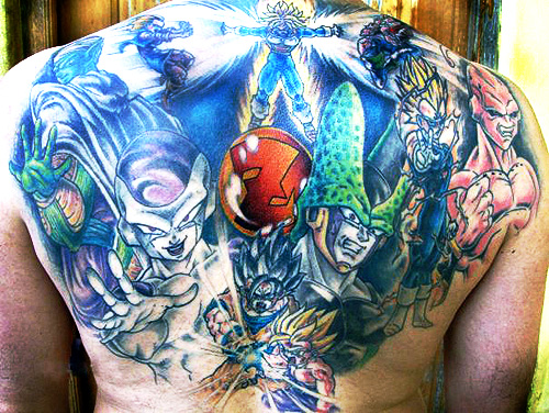 dragon ball tattoo z warriors back