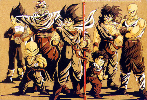 dragon ball z group cast goku