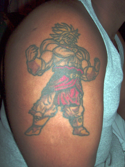 broly tattoo dragon ball z kai