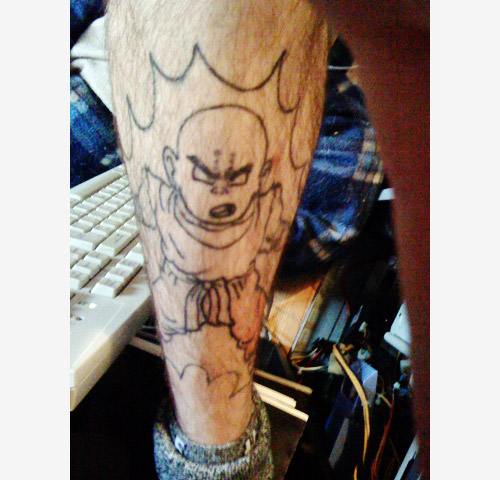 dragon ball krillin tattoo dbz