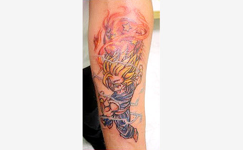 super saiyan 2 dragon ball tattoo dbz kai