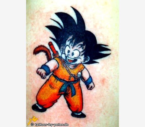 dragon ball tattoo goku child nyoibo db