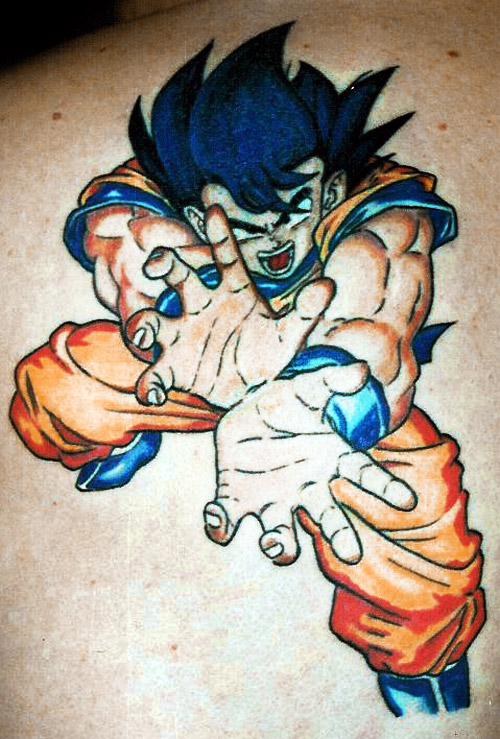 dragon ball tattoo goku kamehameha dbz