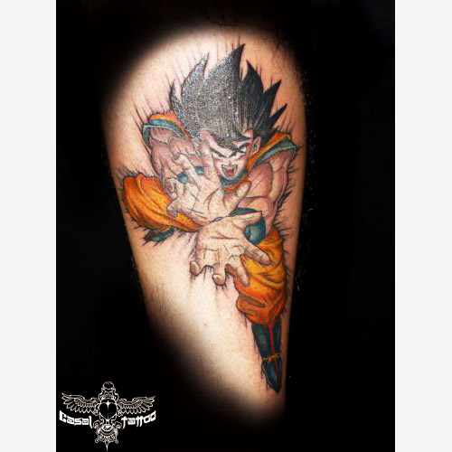goku kamehameha dragon ball tattoo dbzkai