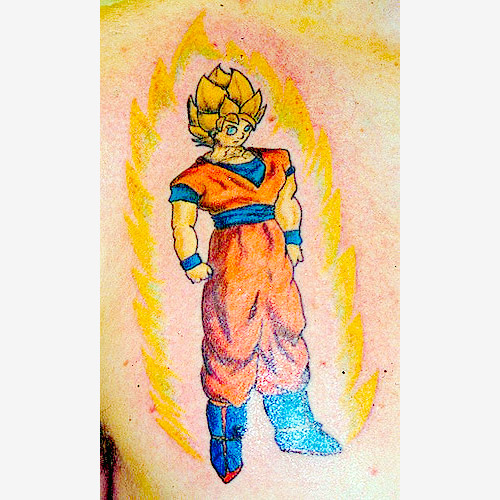 goku super saiyan dragon ball tattoo dbz
