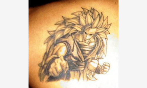 goku super saiyan 3 dragon ball tattoo dbz