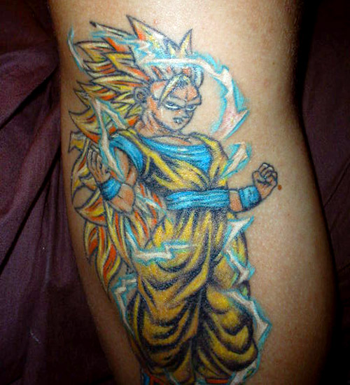 super saiyan 3 goku dragon ball z tattoo