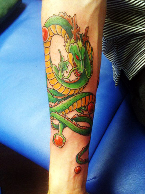 shenron dragon ball tattoo dbz