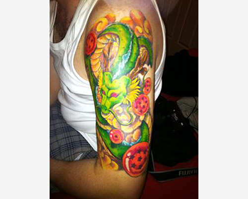 shen long dragon ball tattoo shenron arm dbz