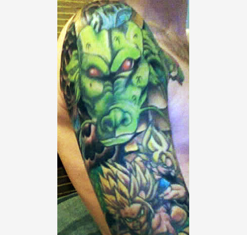 dragon ball tattoo shenron arm dbkai