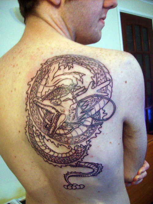 dragon ball tattoo shenron back dbz