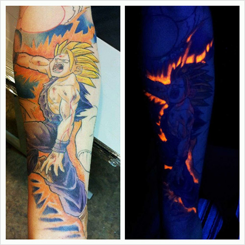 gohan dragon ball z tattoo glow