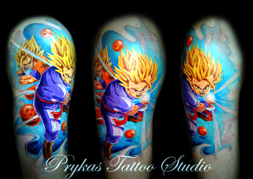gohan goku super saiyan dragon ball tattoo dbz kai