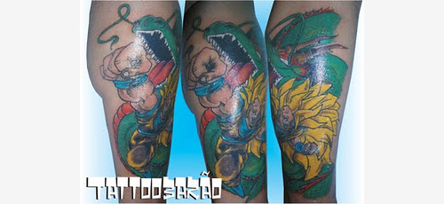 goku super saiyan 3 tattoo shenron
