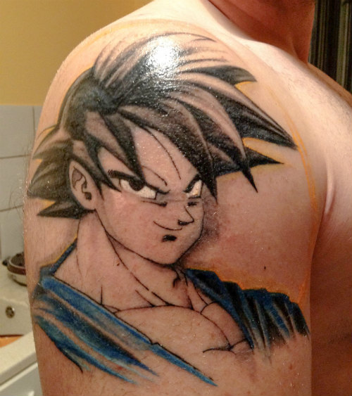 Goku Tattoo Shoulder Dragon Ball GT