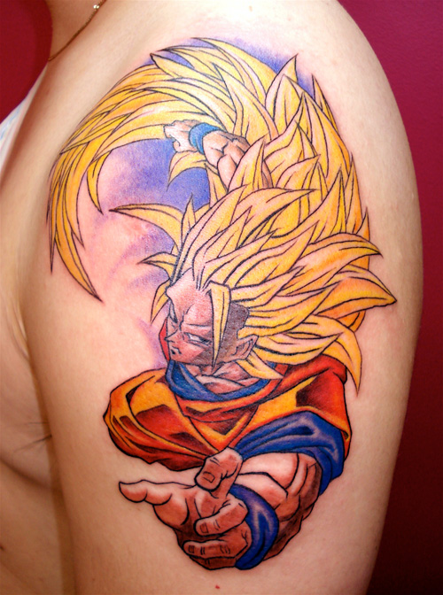goku tattoo ssj3 nelson mandingo dragon ball z