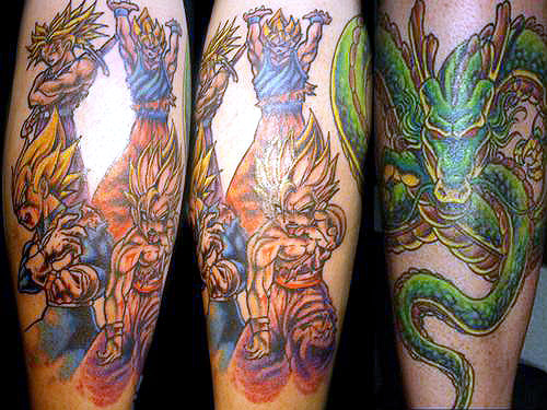 goku vegeta gohan trunks shenron dragon ball tattoo dbz