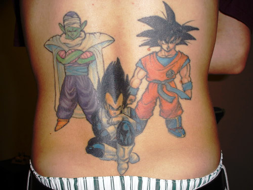 goku vegeta piccolo dragon ball tattoo dbz