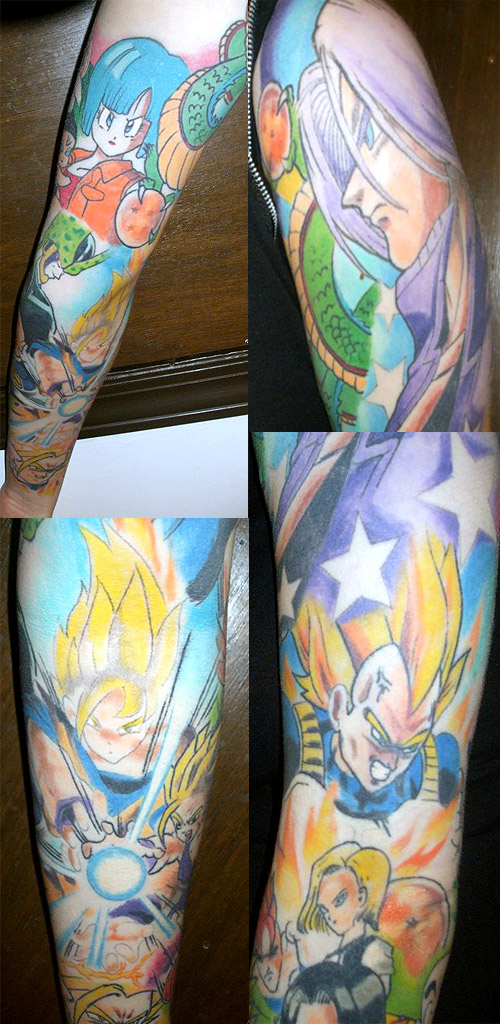 dragon ball tattoo vegeta android trunks goku gohan dbz